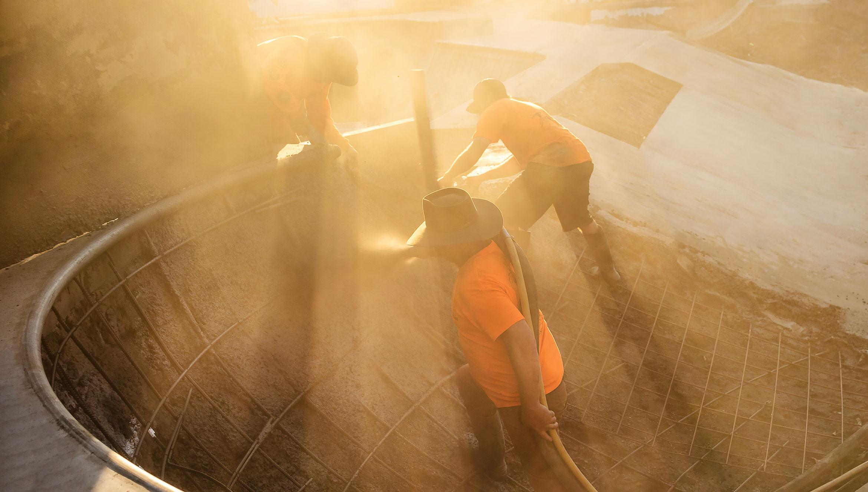 Concrete Skateparks crew constructing a skatepark