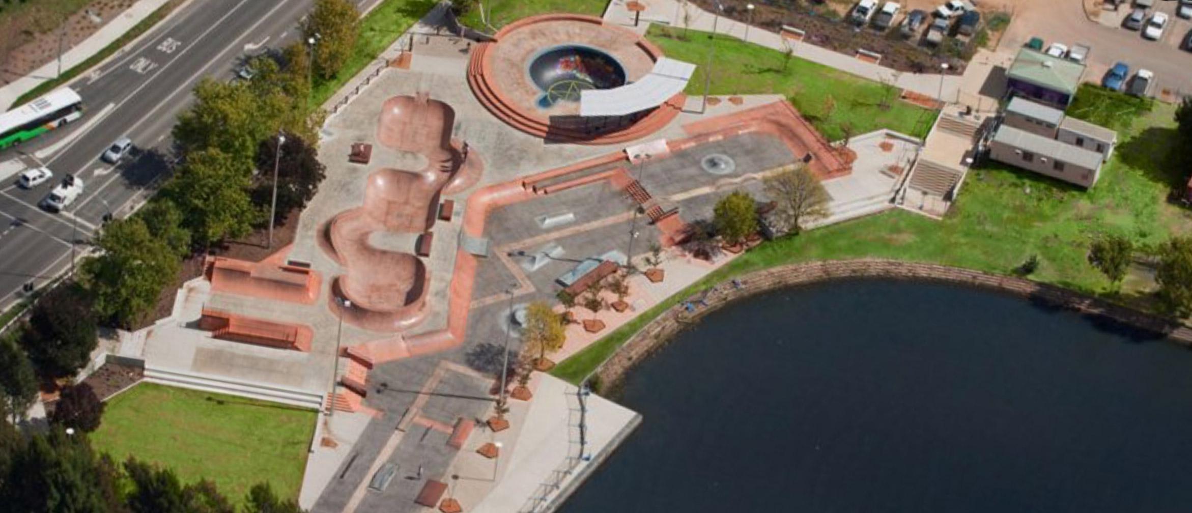 Belconnen skate park overview
