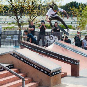 Matthew Cheeney tre flip Belconnen skate park SBA series
