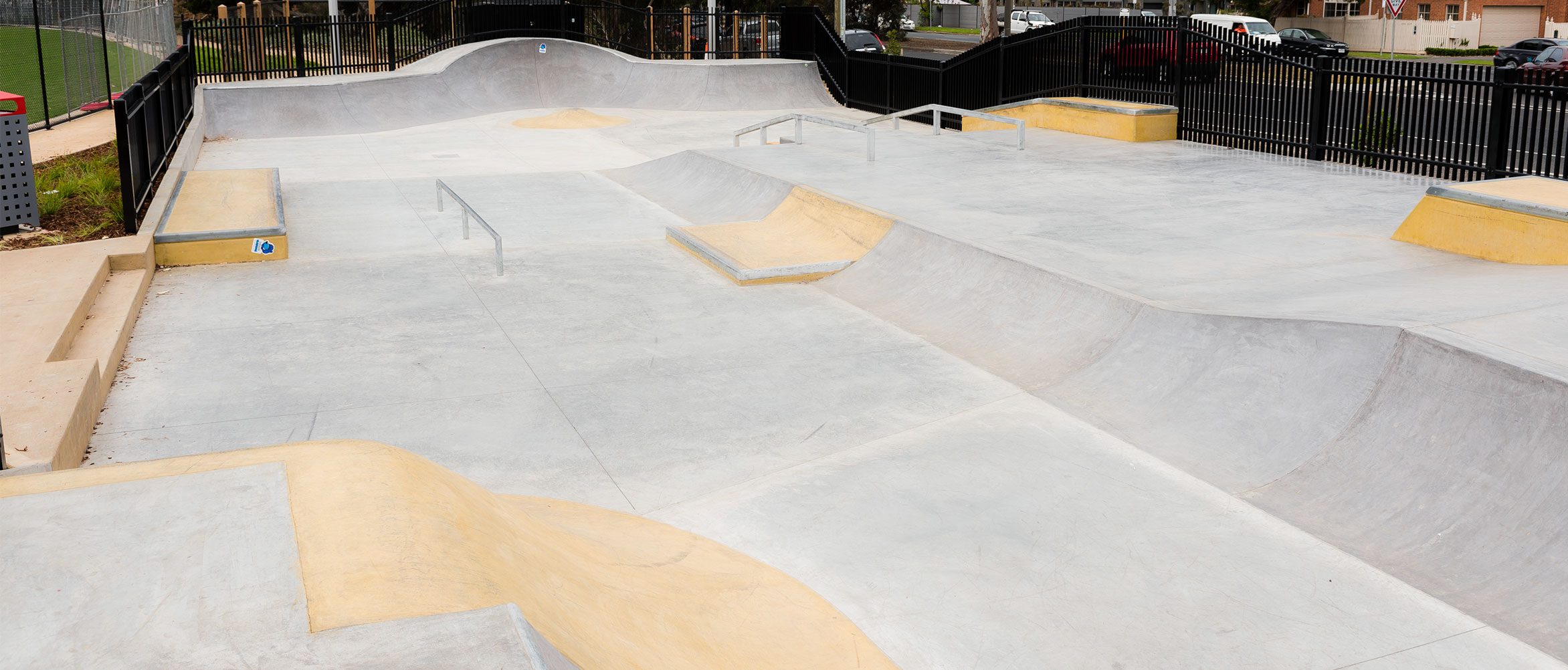Bentleigh East skate park street section