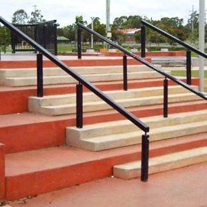Big rail, Capalaba skate park street section, Concrete Skateparks build