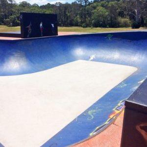 Capalaba skate park bowl section, Concrete Skateparks build