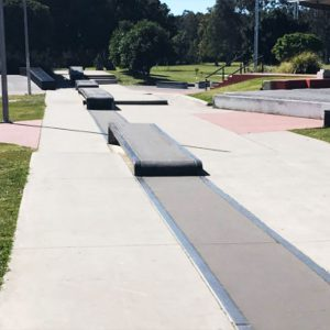 Capalaba skate park street section, Concrete Skateparks build