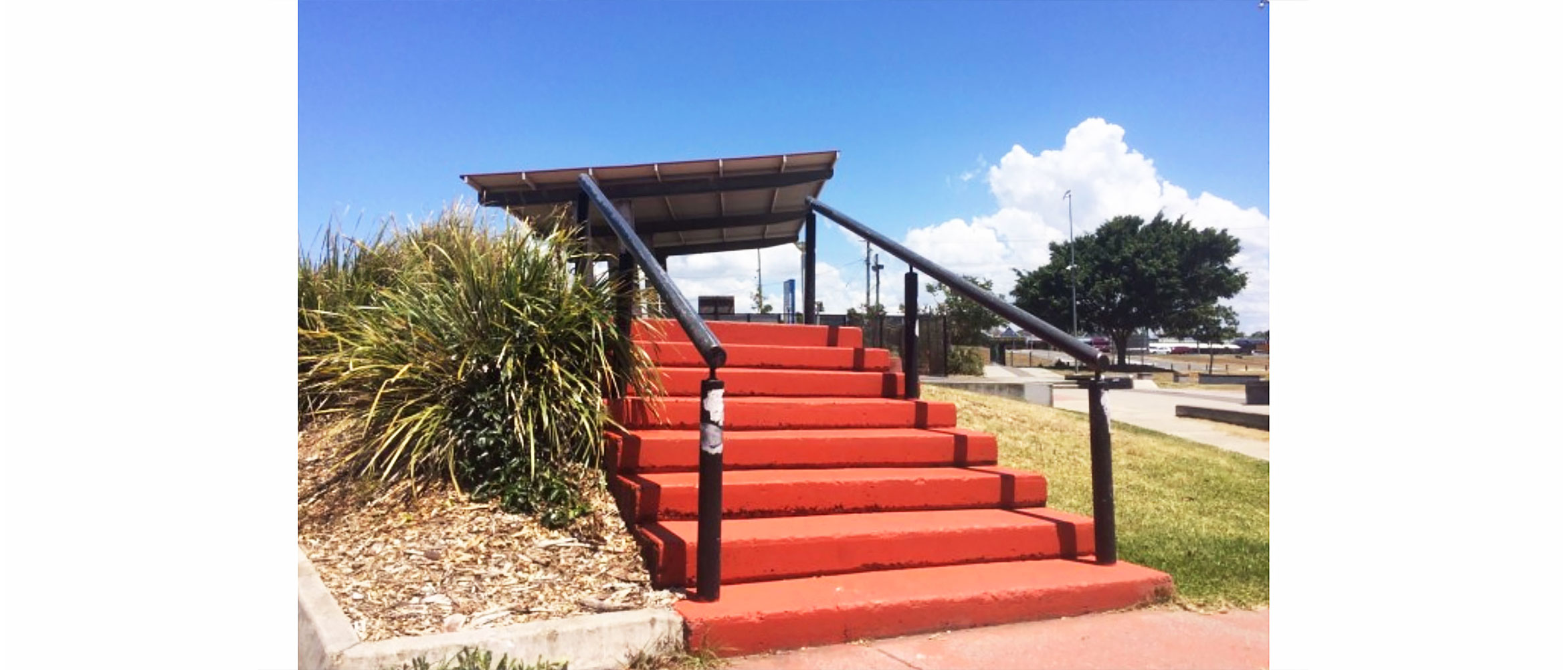 8 stair with handrails, Capalaba skate park, Concrete Skateparks build