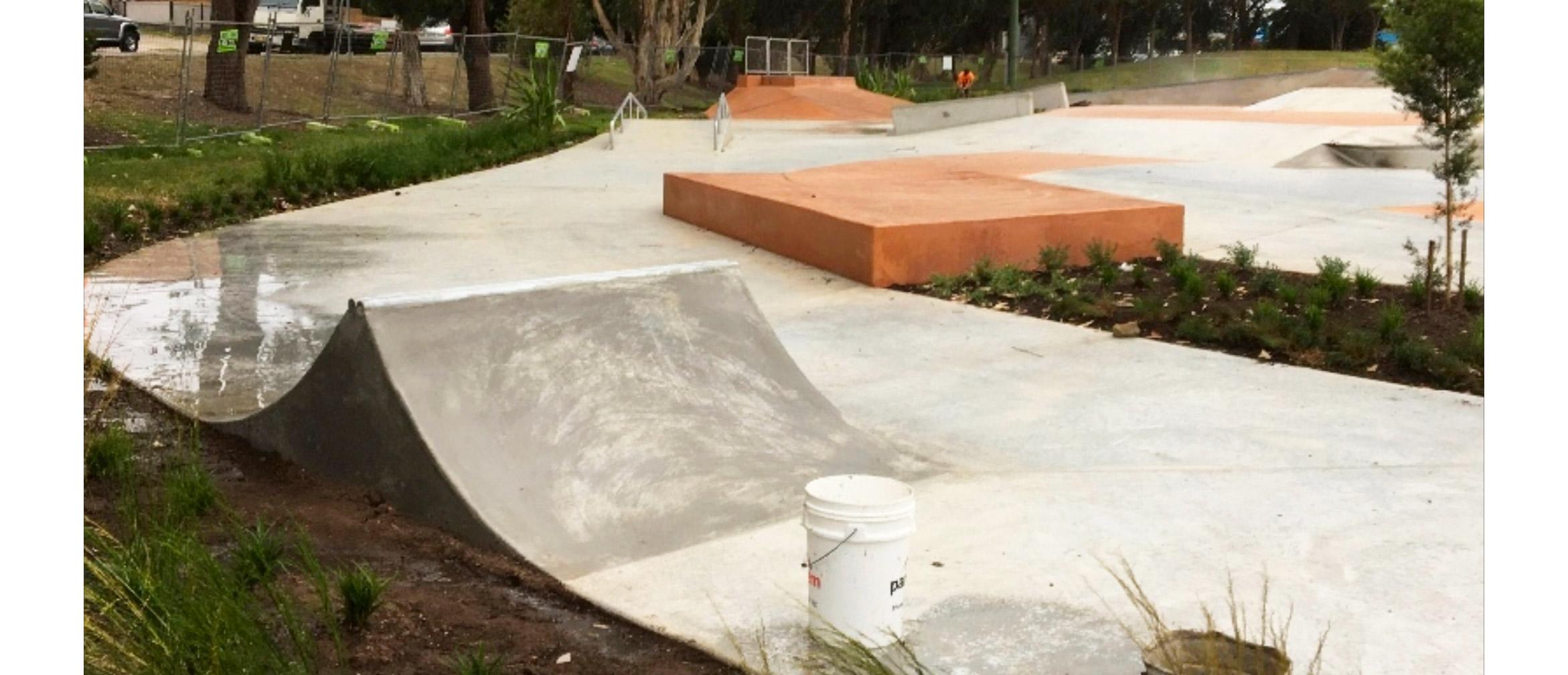 Cromer skate park spine and manual pad