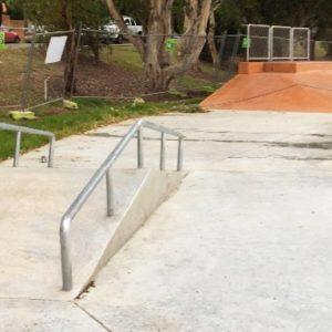 Cromer skate park A frame rail