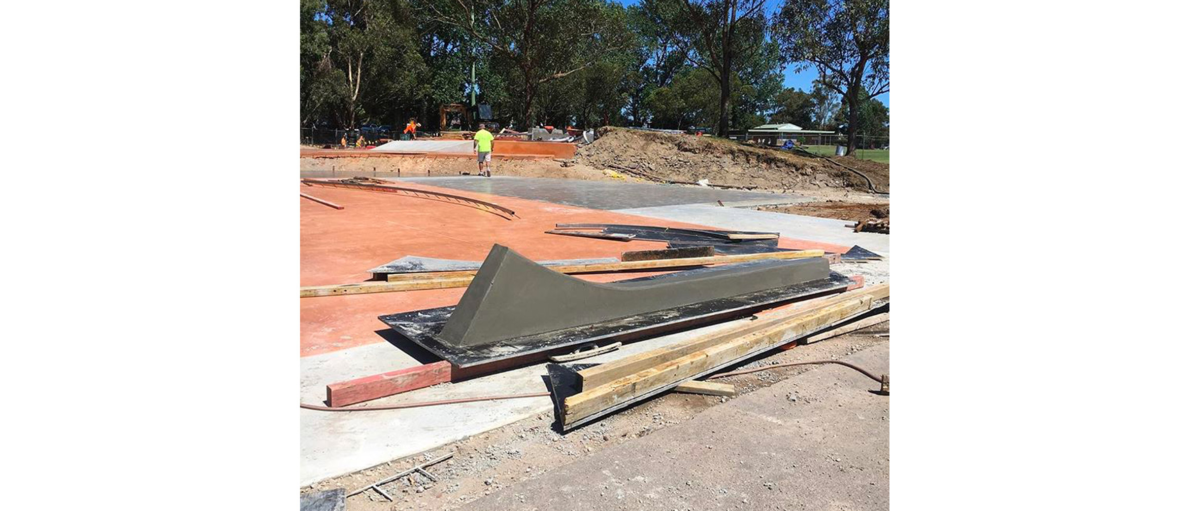 Cromer skate park construction