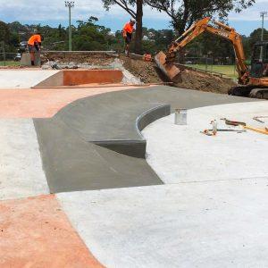 Cromer skate park construction of banks and ledges