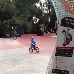 Croyden skate park, Concrete Skateparks build