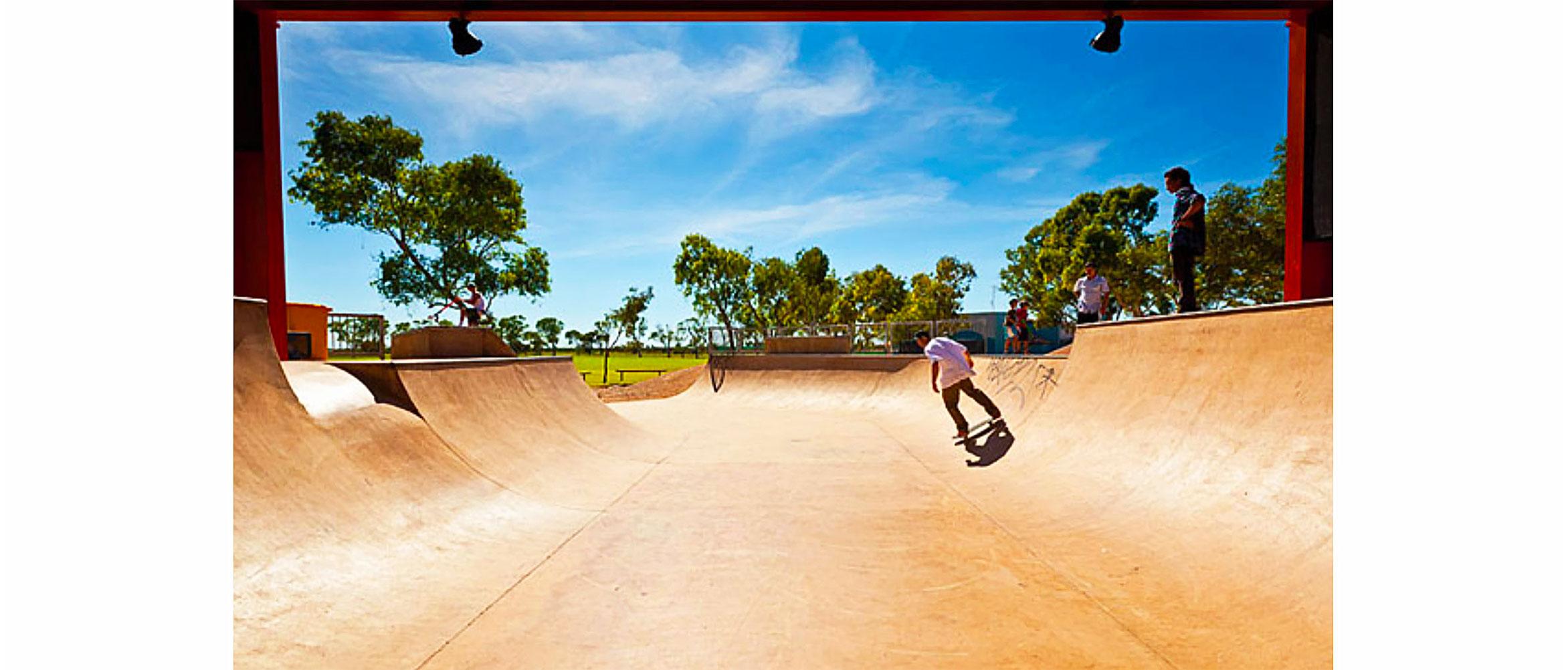 Exmouth mini ramp, skate park Western Australia