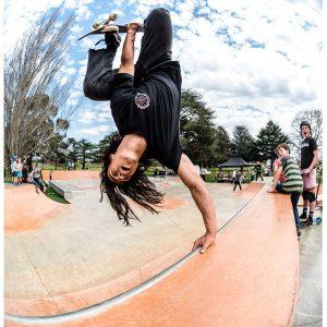 Nixen Osborne invert at Lancefield skate park opening