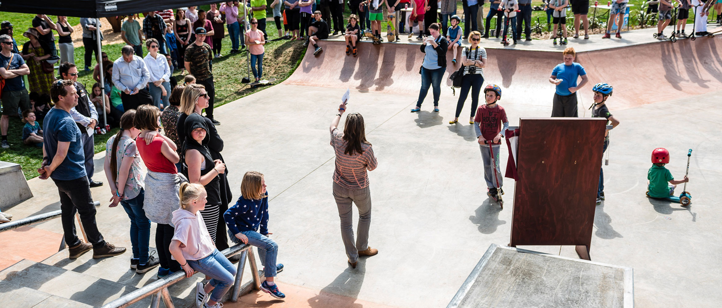 Lancefield skate park opening speaches