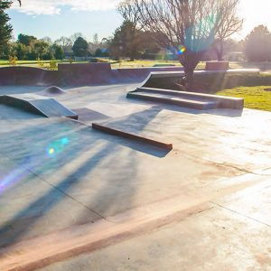 Lancefield skate park street section