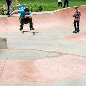 Richard Flude frontside flip at Lancefield skate park opening