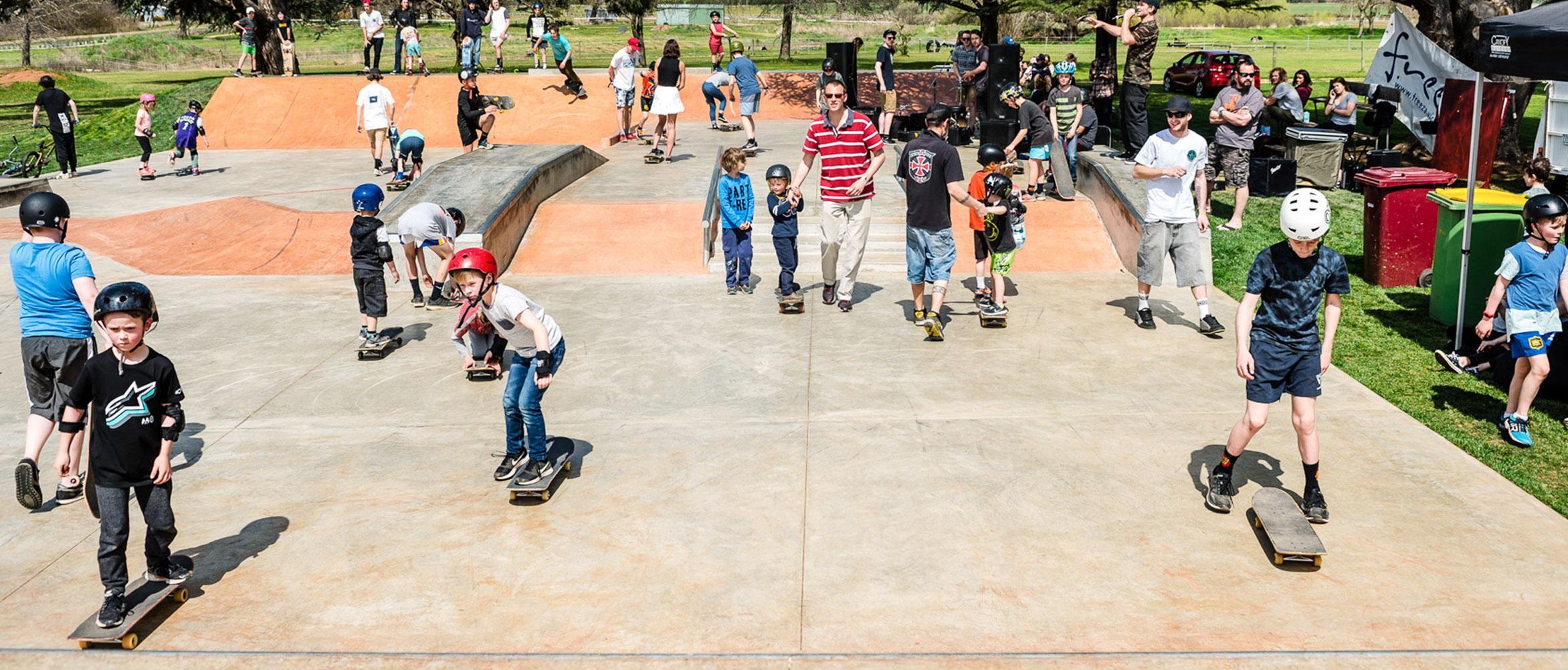 Lancefield skate park opening workshops