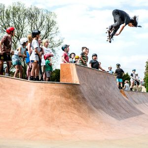 Nixen Osborne bs melon at the Lancefield skate park opening