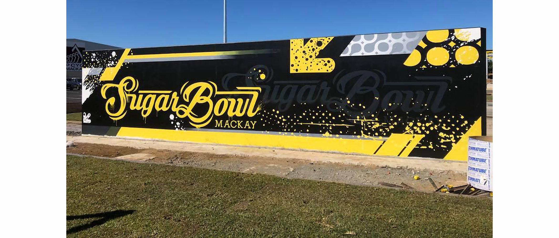 Signage Sugar Bowl skate park Mackay