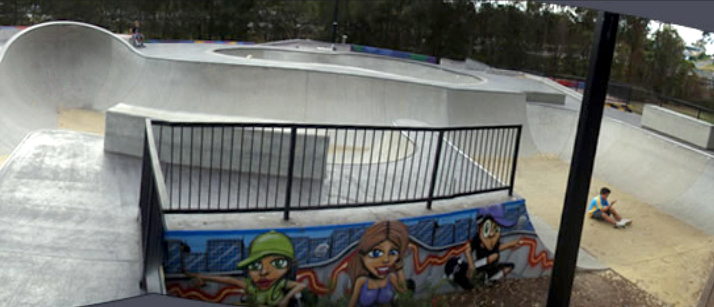 Nerang skate park bowl section