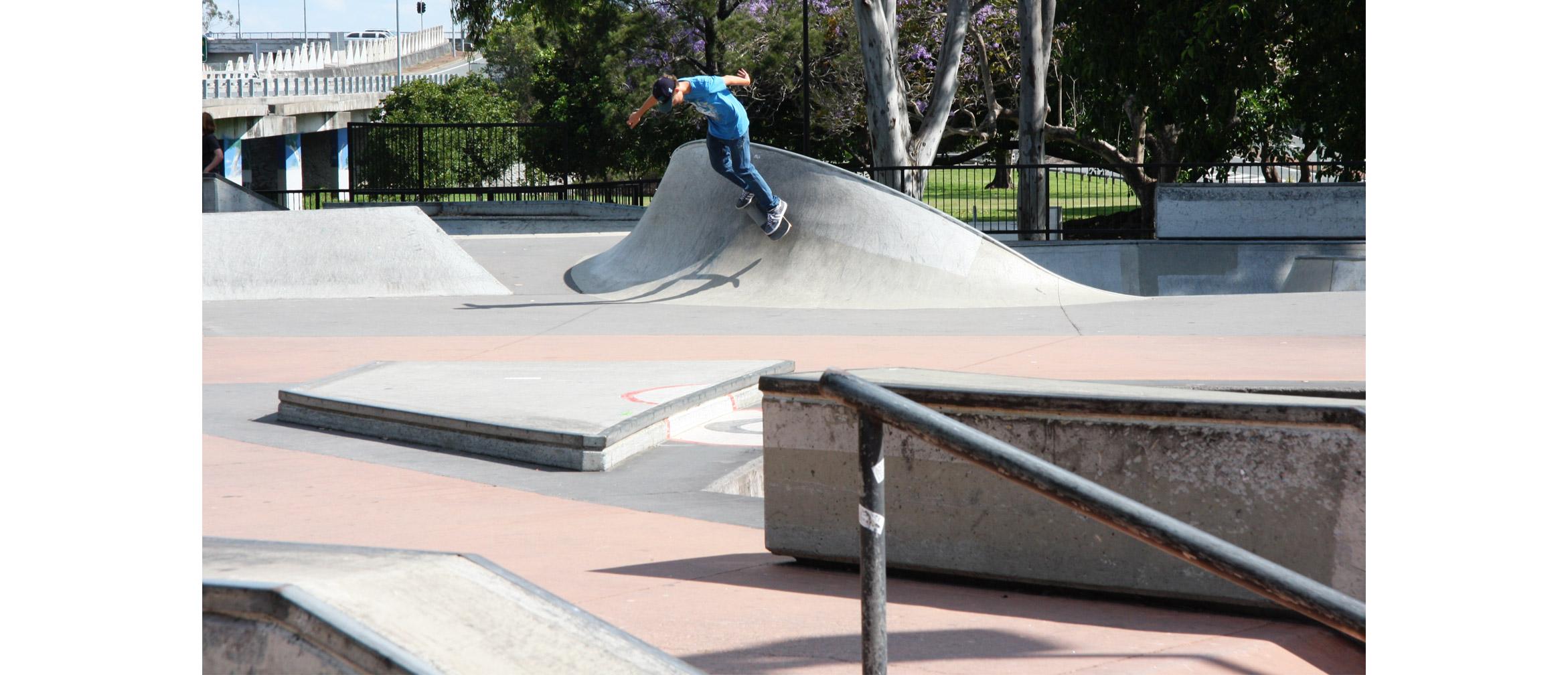 Nerang skate park street section