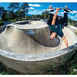 Nixen Osborne invert on Nimbin skate parks snake run