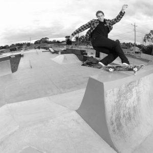 Reece Warren fs hurricane Noble Park skate park bank to barrier