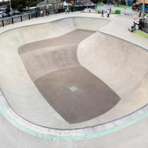 Noble Park skate park big bowl, pool coping