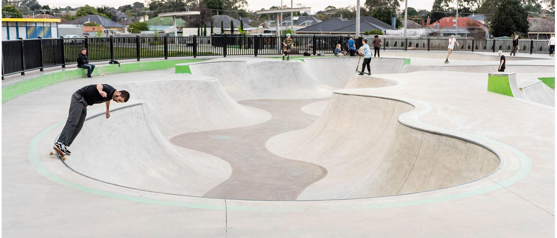 Noble Park skate park snakerun bowl
