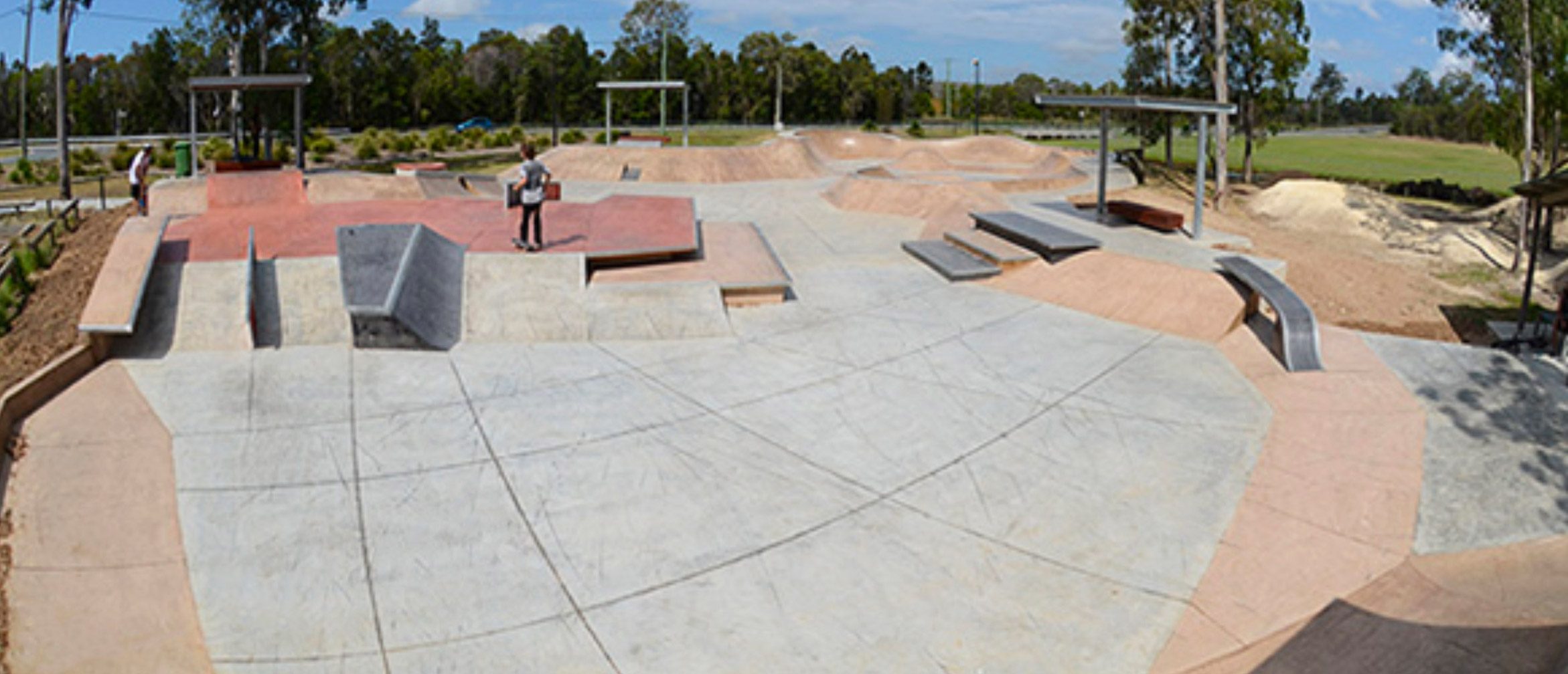 Ormeau skate park street section, Concrete Skateparks build