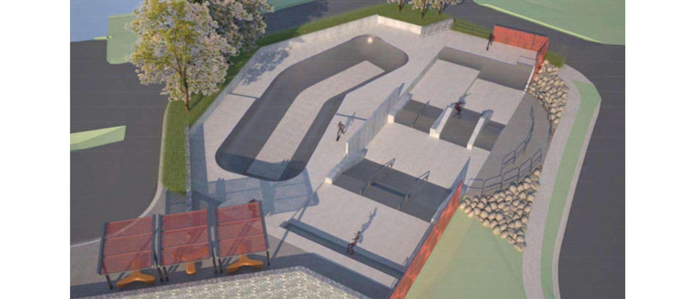 Randwick skate park design