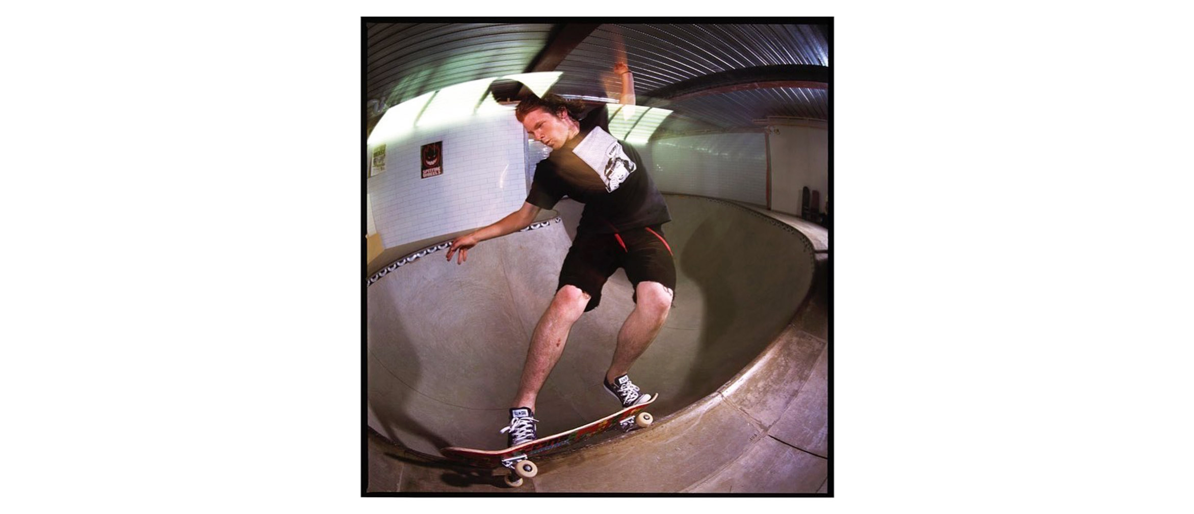 Bryce Golder frontside feeble in the shallow end, CSP headquarters, Steve Gourlay photo