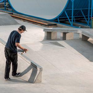 Jackson Pilz at an unfinished Sunshine Beach skatepark