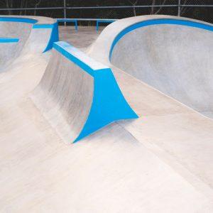 Jersey barrier at Sunshine Beach skate park