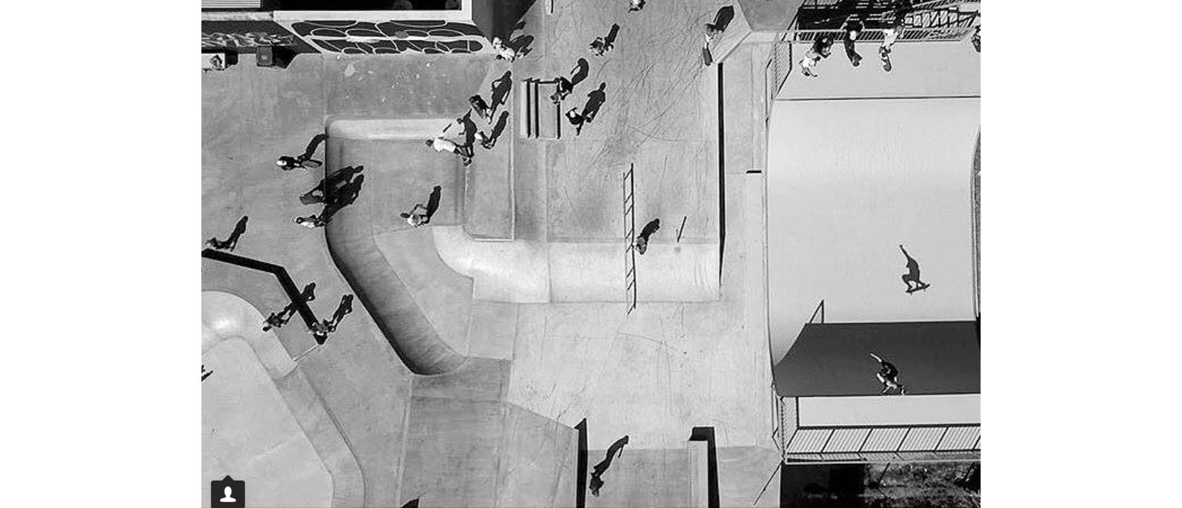 Sunshine Beach skate park opening day birds eye view