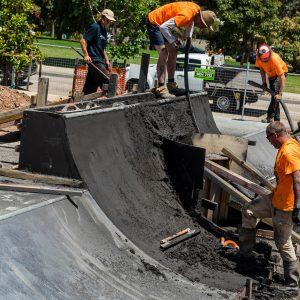 Sydenham skate park transition construction