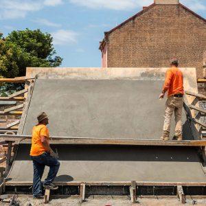 Sydenham skate park big wall construction