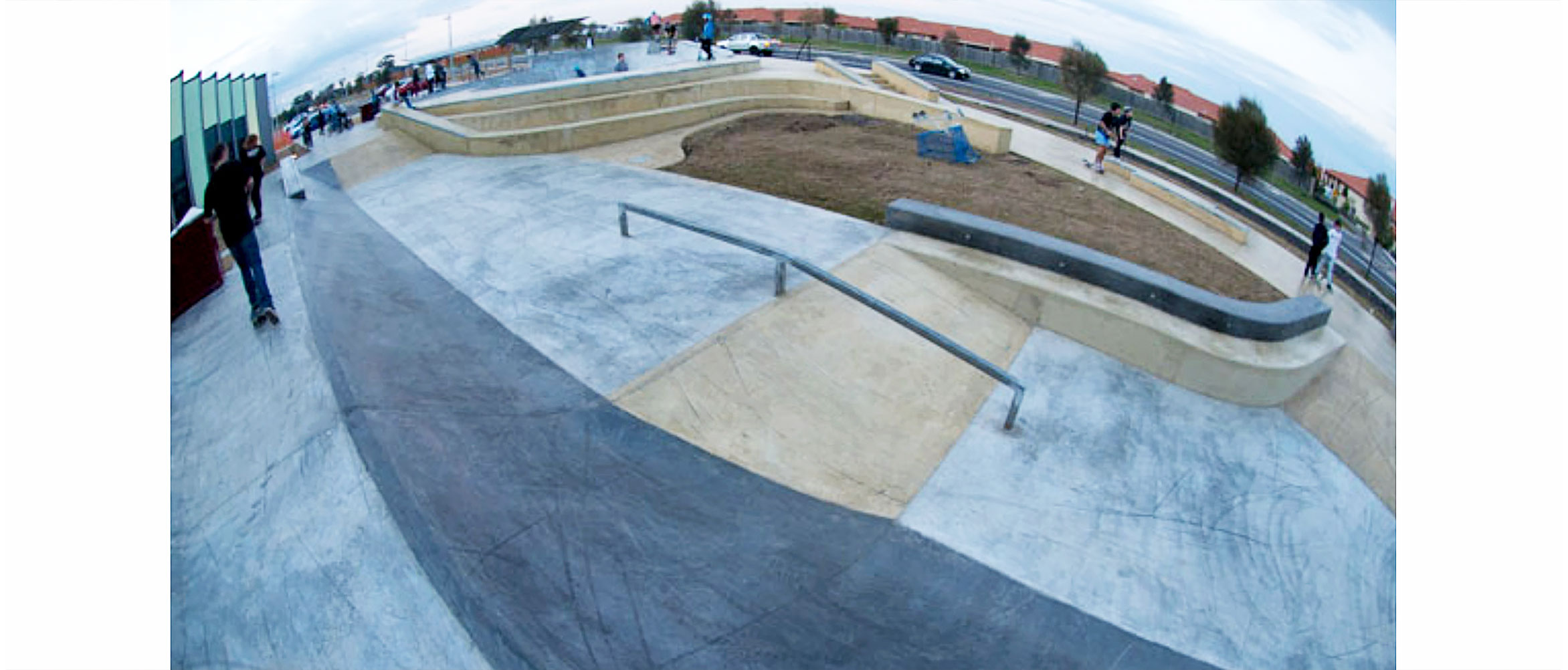 Taylors Hill skate park, street section, Concrete Skateparks