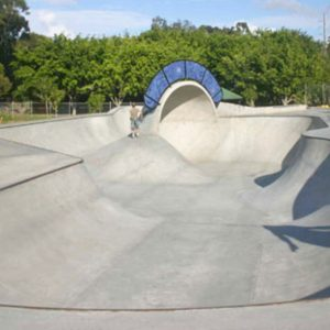 Varsity skate park bowl with cradle