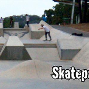 Varsity skate park street section